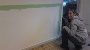Vi målar om entrén. 24/9-2010
